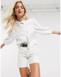 ONLY Camicia bianca con maniche a sbuffo - Bianco
