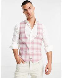 TOPMAN Skinny Suit Waistcoat - Pink