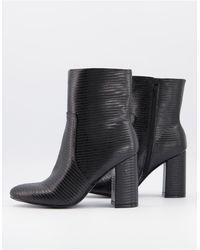 Miss Selfridge Heeled Boots - Black