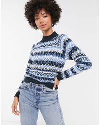 Monki Nordic Ski Knit - Blue