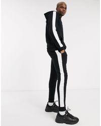 ASOS Tracksuit With Side Stripe - Black