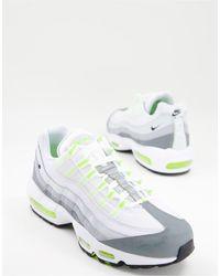 Nike - Серые Кроссовки С Лаймовой Отделкой Air Max 95-серый - Lyst