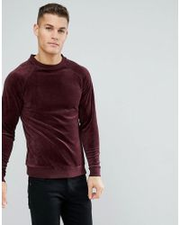 Only & Sons - Velour Sweatshirt - Lyst