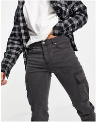 Sixth June Fitted Cargo Jeans - Black