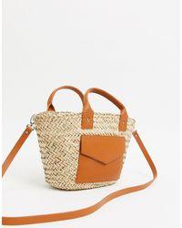 Pull&Bear Raffia Tote Bag - Natural