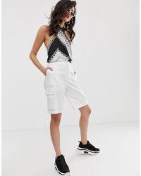 NA-KD Pantaloncini cargo bianchi - Bianco