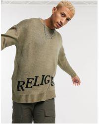 Religion - – Pullover mit Logo - Lyst