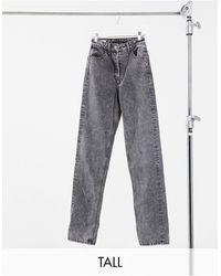 Collusion Tall Straight Leg Jeans - Black