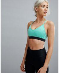 Nike - Pro Indy Bra In Green - Lyst