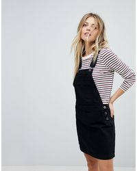 Jack Wills Cleverdon Overall Dress - Black