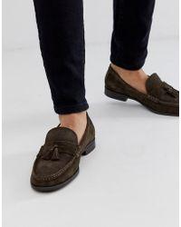 Ben Sherman - Suede Tassel Loafers In Brown - Lyst