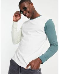 Another Influence Colour-block Long-sleeved T-shirt - Multicolour