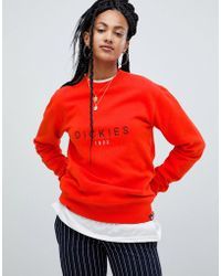 Dickies - Relaxed Sweatshirt With Large Front Logo - Lyst