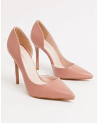Glamorous D'orsay Court Shoes - Pink