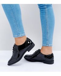 ASOS - Wide Fit Manic Flat Brogues - Lyst