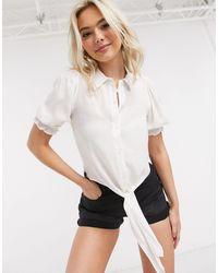 Miss Selfridge Shirred Front Shirt - Multicolour