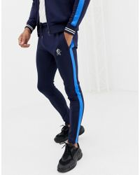 Gym King - Skinny joggers In Navy With Side Stripe - Lyst