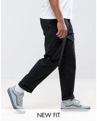 ASOS - Pantalon chino décontracté - Noir - Lyst