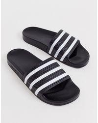 adidas Originals - Черные Шлепанцы Adilette-черный - Lyst