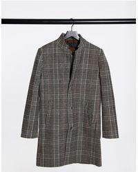 Tom Tailor Шерстяное Бежевое Пальто В Клетку -neutral - Естественный