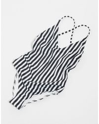French Connection Stripey - Badpak Met Racerback - Meerkleurig