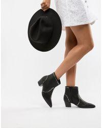 Faith - Bud Studded Heeled Ankle Boots - Lyst