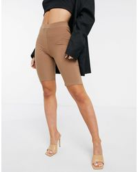 Fashionkilla Body-conscious Short With Ruched Bum Detail - Natural