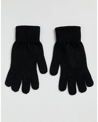 ASOS Черные Перчатки Для Сенсорных Гаджетов - Черный