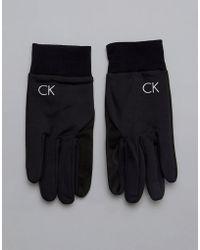 Calvin Klein - Gloves In Black - Lyst
