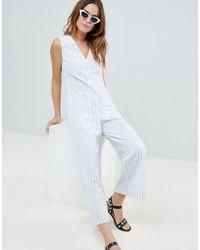 Fashion Union - Stripe Beach Jumpsuit - Lyst