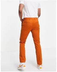 Tommy Hilfiger Slim Fit Chino Trousers - Orange