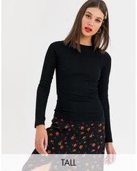 New Look - Maglione girocollo nero a maniche lunghe - Lyst
