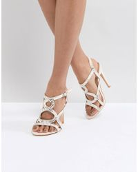 Truffle Collection - Diamante Caged Sandal - Lyst