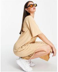 ALIGNE Midi T-shirt Dress With Pocket Detail - Natural