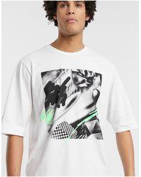 Noak X Will Harvey – es, bedrucktes T-Shirt - Weiß