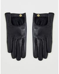 ASOS Leren Effen Handschoenen Met Touch-screen - Zwart