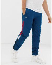 Lacoste Side Stripe jogging Bottoms - Blue