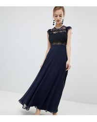 ASOS - Lace Maxi Dress With Lace Frill Sleeve - Lyst