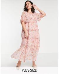 Simply Be Vestito lungo - Rosa