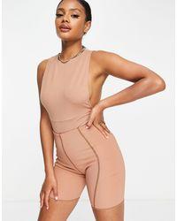 ASOS Side Boob Bodysuit - Natural