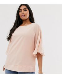Simply Be Blouse With Angel Sleeve - Pink