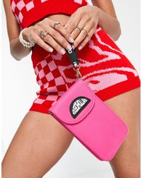 House of Holland Phone Bag With Ombre Chain Strap Detail - Pink