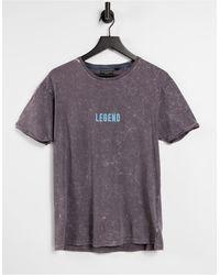Brave Soul T-shirt antracite lavaggio acido - Multicolore
