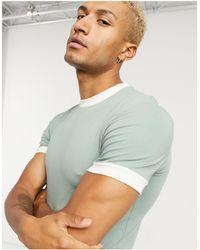 ASOS Camiseta ajustada con diseño ribeteado - Multicolor