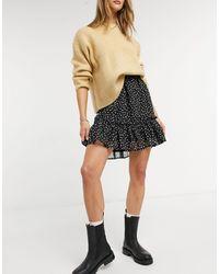Vila Mini Frill Detail Skirt - Black