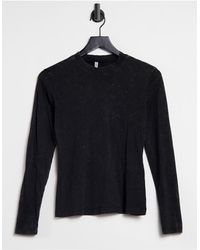 ONLY Top With High Neck And Long Sleeves - Black