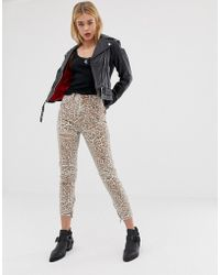 One Teaspoon Freebirds High Waisted Skinny Jean In Leopard Print - Natural