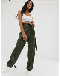 ASOS Strappy Combat Pants - Green