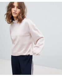 SELECTED - Femme Sweatshirt With High Neck And Sleeve Detail - Lyst