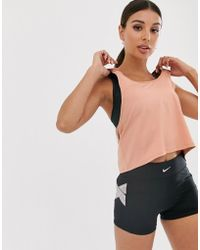 Nike Nike Pro Training Crossover Vest In Rose Gold - Pink